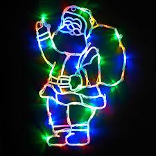 santa led light silhouette multi lights