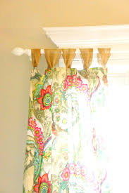 Curtains With Ribbons Easy Tab Top Curtain Panels Chaotically Creative