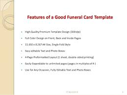 Funeral Card Template Finding A Good Funeral Card And Template