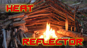 how to build a fire heat reflector for cold weather survival youtube