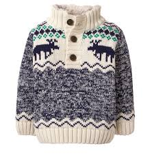 baby marled navy moose sweater by gymboree