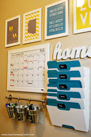 kitchen message center ideas organization family command center towel holders markers and