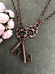 vintage key necklace images Two vintage copper key necklaces i love vintage jpg