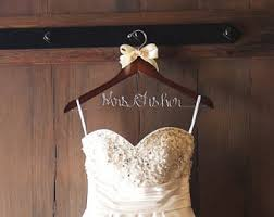 wedding dress hanger etsy
