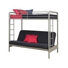 over futon metal bunk bed twin sofa college home kids teens