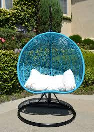Rattan Swinging Chair Black Turquoise Egg Shape Wicker Rattan Swing Chair Hanging