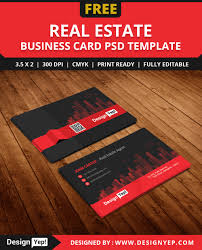 free real estate agent business card template psd free business