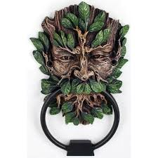 greenman forest god door knocker home decor ancient gods
