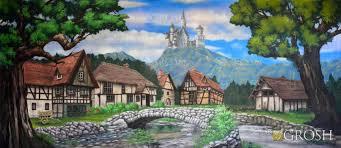 Castle Backdrop Village With Castle U2013 Disney Castle Backdrop Grosh