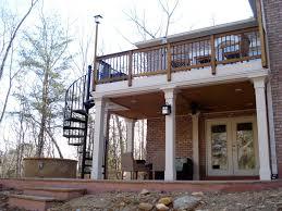 home design outdoor wood spiral staircase contemporary medium
