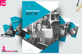 free brochure annual report template psd freedownloadpsd com