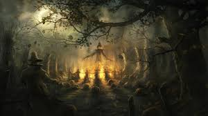 background for halloween halloween scene