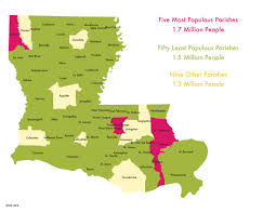 Louisiana Map Of Parishes by Power Map 8 Urban Suburban And Rural Louisiana U2013 One Voice