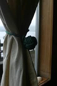 2 two green tie backs curtain window treatments nautical
