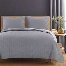 Gray Bedding Sets Solid Color Quilt Sets Bedding Sets Greenland Home Fashions
