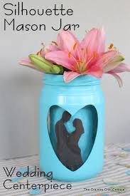 Mason Jar Vases For Wedding Silhouette Mason Jar Wedding Vase Centerpiece The Country Chic