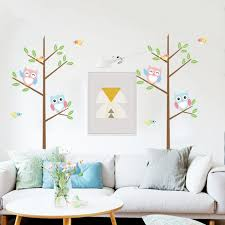 compare prices on wallpaper sticks online shopping buy low price 2017 kids cartoon owl diy mural art decals wall stickers home wallpaper room decor decoration stick