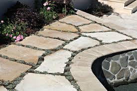 Rock Patio Design Sand Set Flagstone Patio U2013 Visions Landscaping And Design Inc