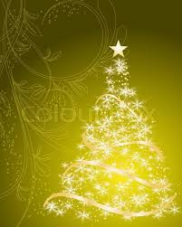 gold christmas tree stylized vector gold christmas tree stock vector colourbox