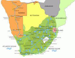 Swaziland Map Plattegrond Zuid Afrika Swaziland En Lesotho Zuid Afrika