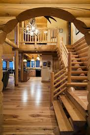 home interior prints log home interior photos staircase traditional with antler