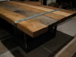 hip unpainted brown homemaderectangle reclaimed wood coffee table
