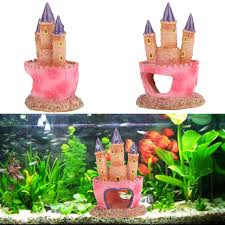 resin castle aquariums decorations castle tower ornaments