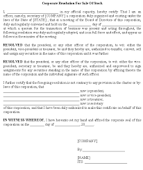 company resolution template