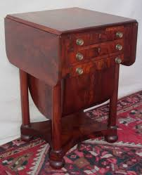 Best Sewing Table by Federal Mahogany Sow Belly Work Table Attributed To Issac Vose