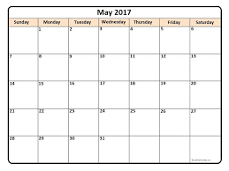 printable calendar pages may 2017 printable calendar printable calendars pinterest