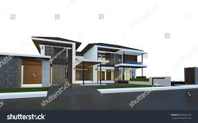 3d render building isolated on stock illustration 289524149
