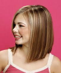 shoulder length bob haircuts for kids long straight formal hairstyle medium brunette chestnut