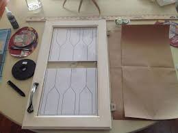 HowTo DIY Faux Leaded Glass Hometalk - Leaded glass kitchen cabinets