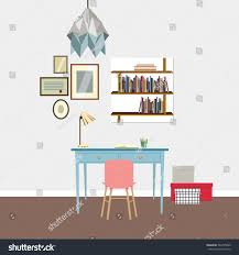 design modern home workplace creative cozy stock vector 564795820