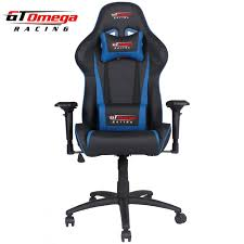 Race Car Seat Office Chair Gaming Seats Gt Omega Pro Racing Office Chair Black Next Blue Leather
