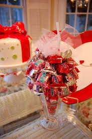 decorations snickers candy in glass for diy valentine decoration