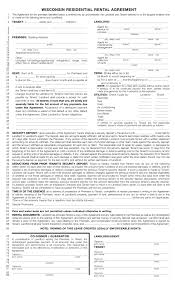 free wisconsin rental lease agreements residential u0026 commercial