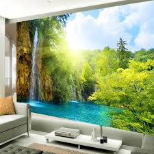 Chinese Style Home Decor Aliexpress Com Buy Chinese Style Photo Wallpaper Mountain And