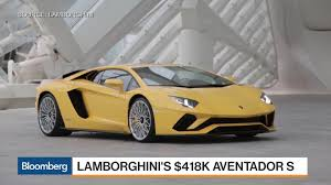 Lambo Truck Price 2018 Lamborghini Aventador S Review Track Drive Bloomberg