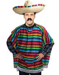 mens unisex mexican spanish poncho fancy dress western