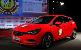 vauxhall astra vauxhall astra named 2016 european car of the year
