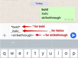 how to write bold and italic text on whatsapp business insider