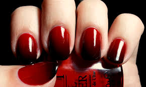 nail art red and black ombre found on instagram most beautiful