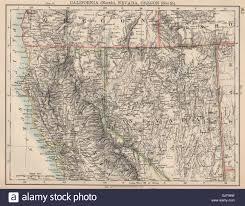 map of oregon nevada usa west pacific northern california nevada south oregon stock