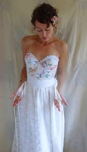 reserved meadow bustier wedding gown whimsical dress boho fairy
