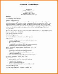 Resume Objective Examples For Receptionist Position by Resume Objective Examples For Receptionist Position Free Resume