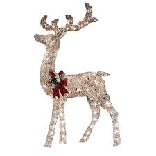 living 52 in lighted vine reindeer outdoor