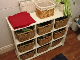 Wicker Basket Bathroom Storage Diy Bathroom Storage Unit A Less Physical