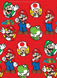 mario wrapping paper mario gift wrap tags prêt à party