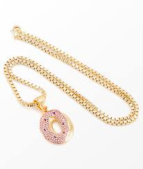 gold necklace womens images King ice x odd future donut pendant gold womens necklace zumiez jpg